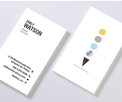 既製デザイン ビジネス名刺  100枚単位 簡単情報入力だけで名刺お届けします